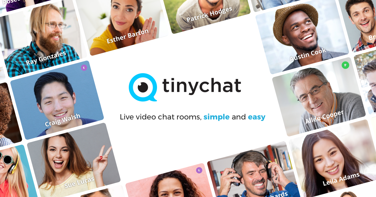 live video chat rooms, simple and easy. - tinychat